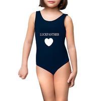 Customized Print Plain Designs Kids Swimsuit